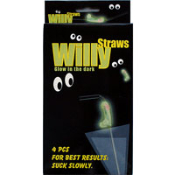 Glow In The Dark Willy Straws