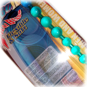 Jumbo Jelly Thai Beads (Cyan)