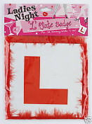 Ladies Night 'L' Plate Badge