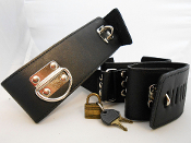 Leather Collar and Cuffs (code 2003)
