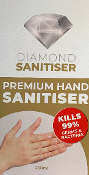 Diamond Sanitiser Premium Gel Alcohol Based 250ml Bottle