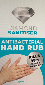 Diamond Sanitiser Antibacterial Hand Rub 250ml Bottle